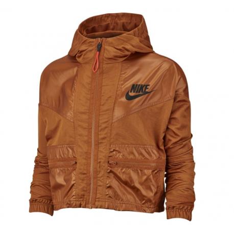 Nike Giacca Sportiva Rebel Marrone Donna