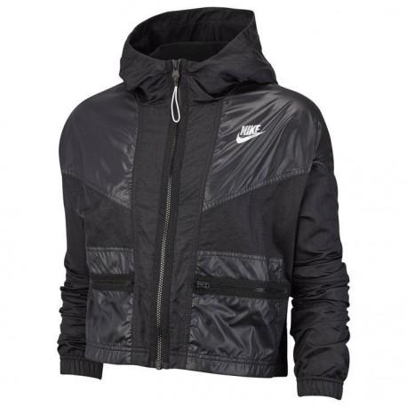 Nike Giacca Sportiva Rebel Nero Donna