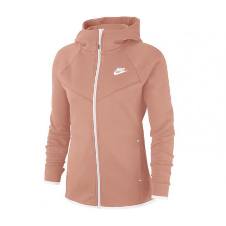 Nike Felpa Palestra Full Zip Con Cappuccio Rosa Donna