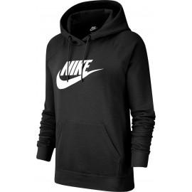 Nike Felpa Palestra Swoosh Hbr Nero Donna