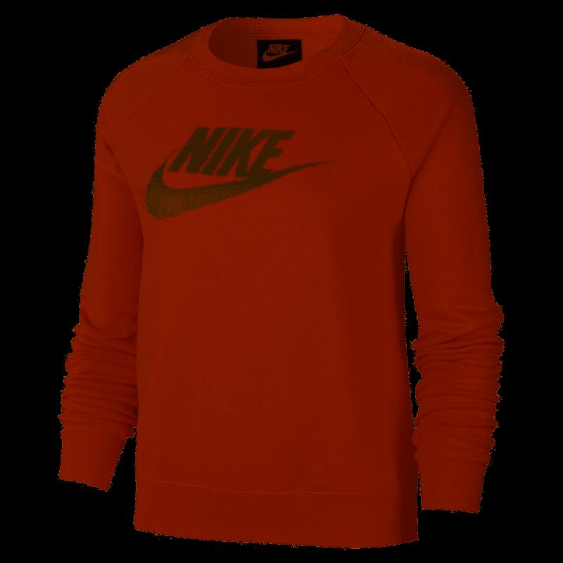 Nike Felpa Palestra Girocollo Logo Rosa Donna