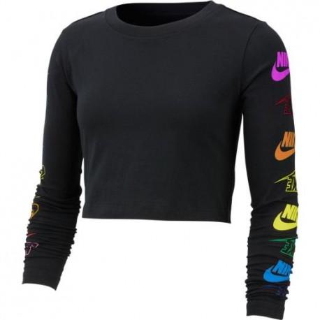 Nike Maglietta Palestra Crop Nero Donna