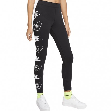 Nike Leggings Sportivi Logo Nero Donna
