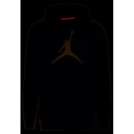 Nike Felpa Palestra Logo Jordan Fleece Nero Uomo