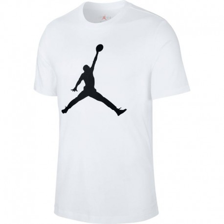 Nike Maglietta Palestra Big Logo Jordan Bianco Uomo