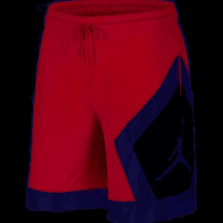 Nike Pantaloncino Palestra Jumpan Diamond Jordan Rosso Uomo