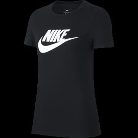 Nike Maglietta Palestra Girocollo Logo Nero Donna
