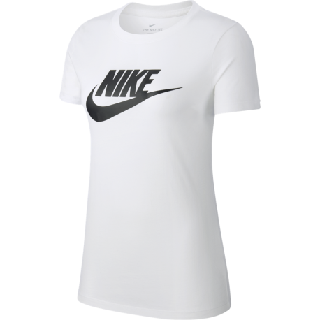 Nike Maglietta Palestra Girocollo Logo Bianco Donna
