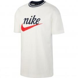 Nike Maglietta Palestra Logo Sportswear Bianco Uomo