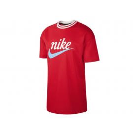 Nike Maglietta Palestra Logo Sportswear Rosso Donna