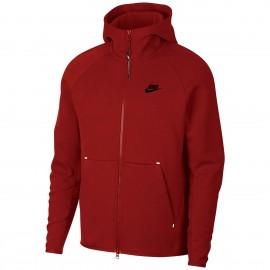 Nike Felpa Palestra Full Zip Tech Flece Boardeaux Uomo
