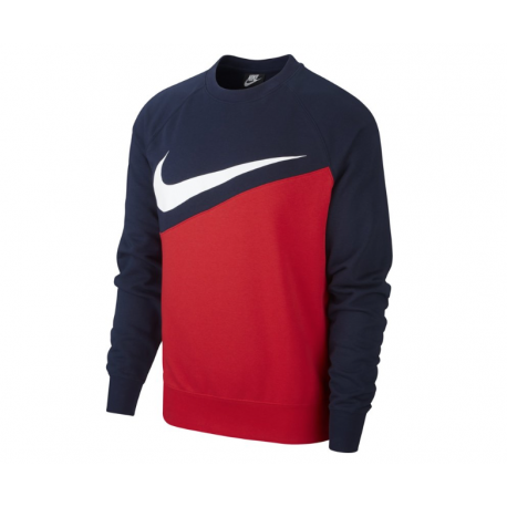 Nike Felpa Palestra Girocollo Big Swoosh Blu Donna
