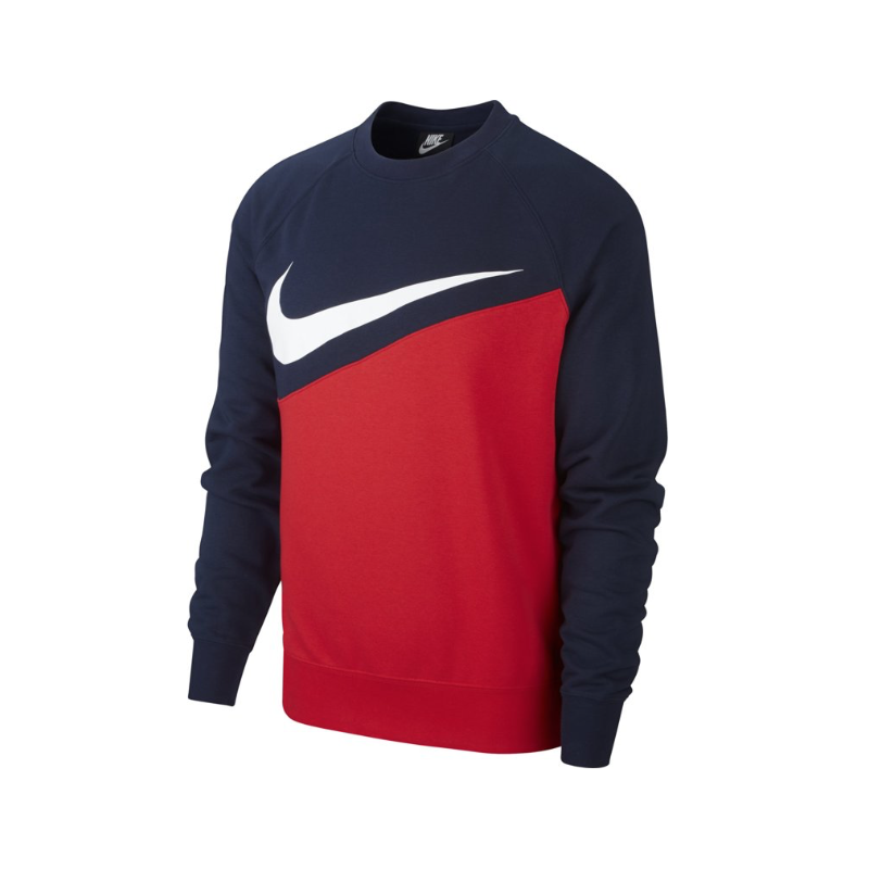 Nike Felpa Palestra Girocollo Big Swoosh Blu Uomo