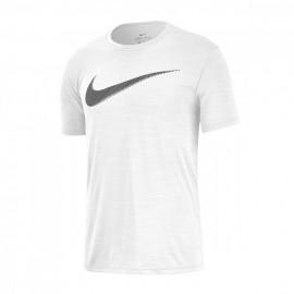 Nike Maglietta Palestra Logo Cotton Fit Train Bianco Uomo
