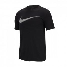 Nike Maglietta Palestra Logo Cotton Fit Train Nero Uomo