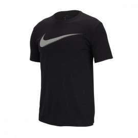 Nike Maglietta Palestra Logo Cotton Fit Train Nero Uomo