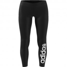 ADIDAS leggings sportivi logo nero donna