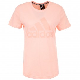 ADIDAS maglietta palestra logo rosa donna