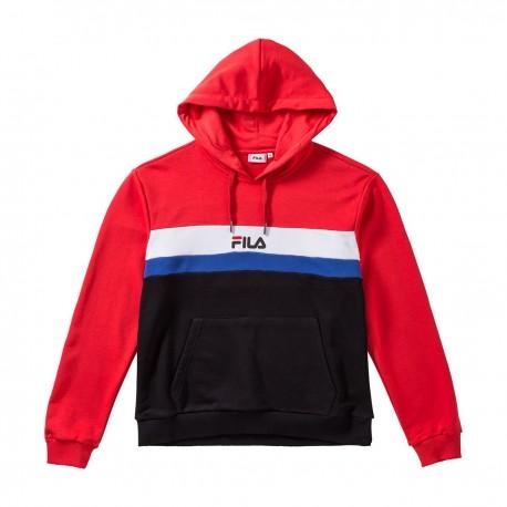 Fila Felpa Palestra Logo Bicolor Rosso Uomo