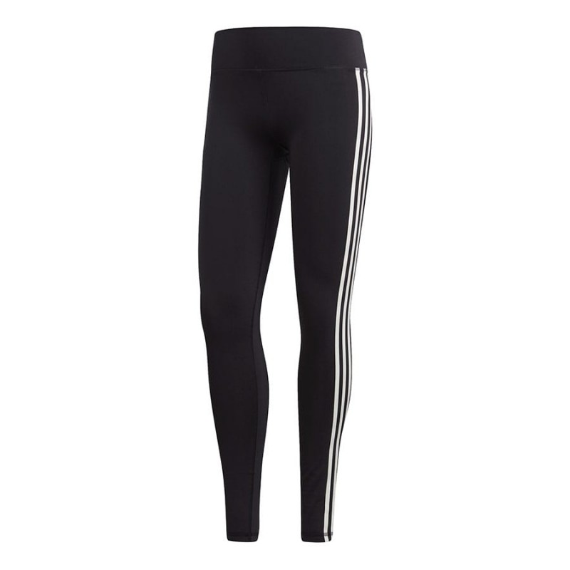 ADIDAS leggings sportivi 3 stripes nero donna