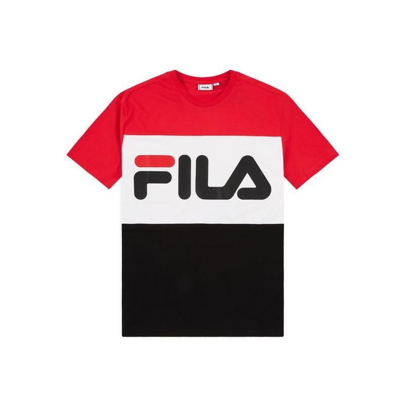 Fila Maglietta Palestra Logo Bicolor Nero Uomo