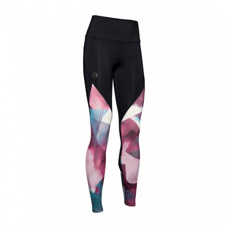 Under Armour Leggings Sportivi Rush Nero Rosa Donna