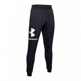 Under Armour Pantalone Palestra Logo Nero Uomo