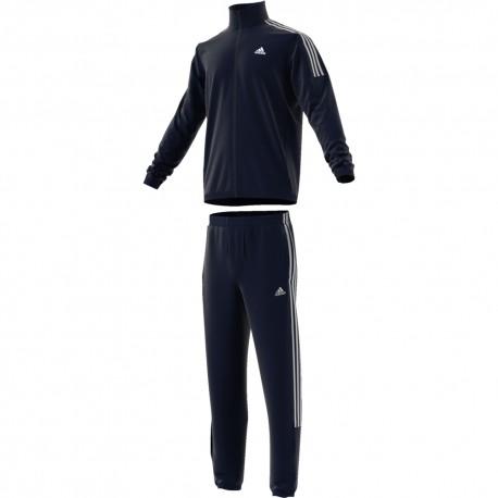 ADIDAS tuta sportiva 3 stripe blu uomo