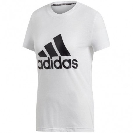 ADIDAS maglietta palestra logo bianco donna