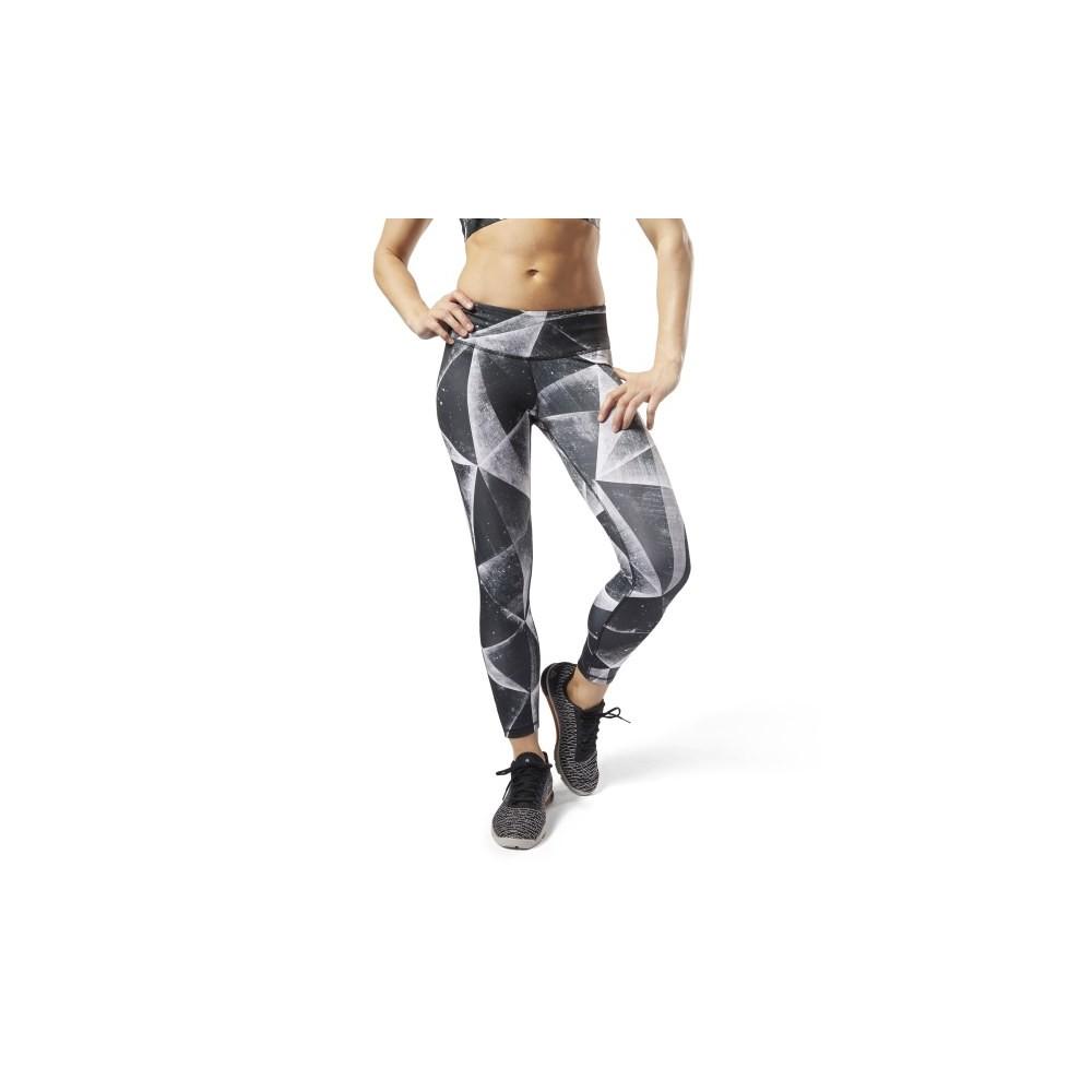 Palestra Nike Leggings Sportivi Train Leopard Grigio Donna