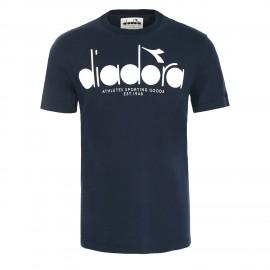 Diadora T-Shirt Logo Blu Uomo