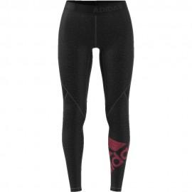 ADIDAS leggings sportivi logo train nero donna