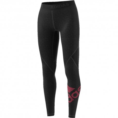 ADIDAS leggings sportivi logo train nero donna