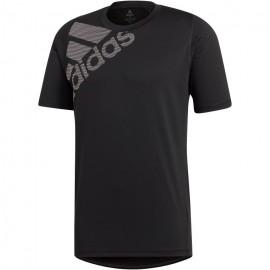 ADIDAS maglietta palestra train logo nero uomo