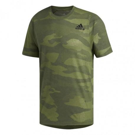 ADIDAS maglietta palestra camou train verde uomo
