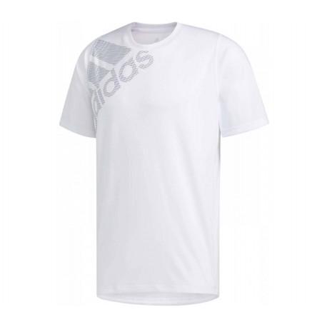 ADIDAS maglietta palestra logo spalla train bianco uomo