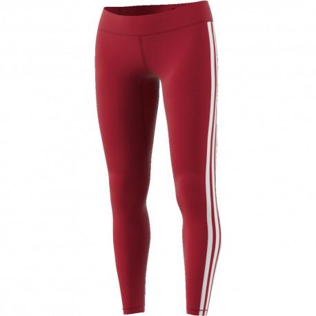 ADIDAS leggings sportivi righe lato bordeaux donna