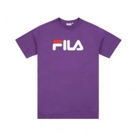 Fila Maglietta Palestra Logo Viola Uomo