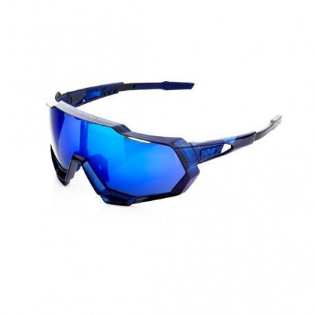 100% Occhiali Ciclismo Speedtrap Polished Translucent Blu