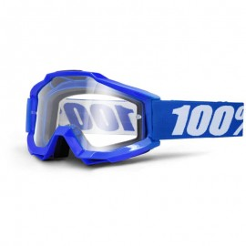 100% Maschera Antivento Bici Accuri Reflex Blue Clear Lens