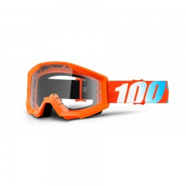 100% Maschera Antivento Bici Strata Arancio Clear Lens