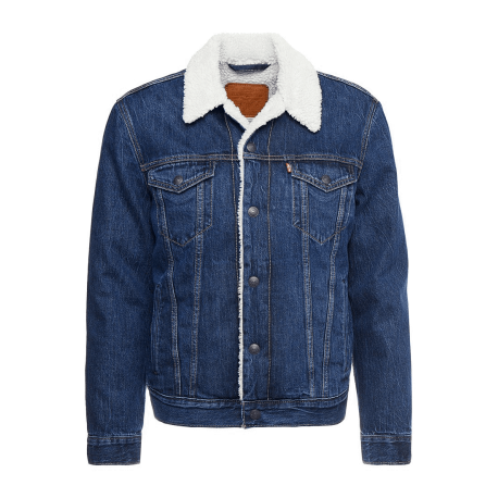 Levi's Giubbotto Sherpa Blu Uomo