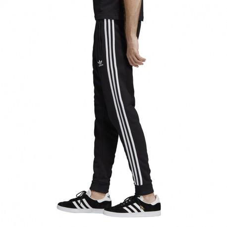 pantaloni neri uomo adidas