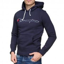 Champion Felpa Palestra Cappuccio Logo Blu Uomo