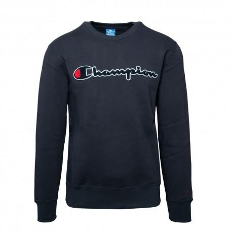 Champion Felpa Palestra Girocollo Logo Blu Uomo