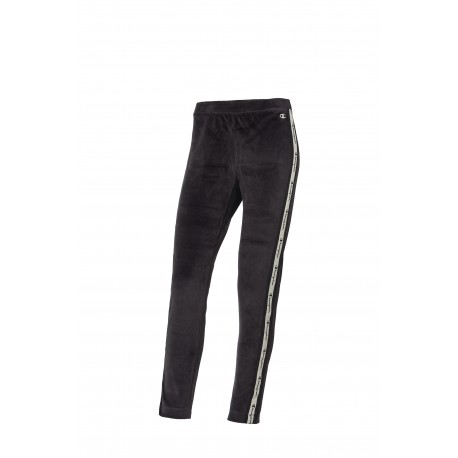 Champion Leggings Sportivi Banda Nero Donna