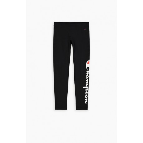 Champion Leggings Sportivi Big Logo Nero Donna