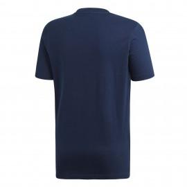 Adidas Originals T-Shirt Logo Trefoil Blu Uomo