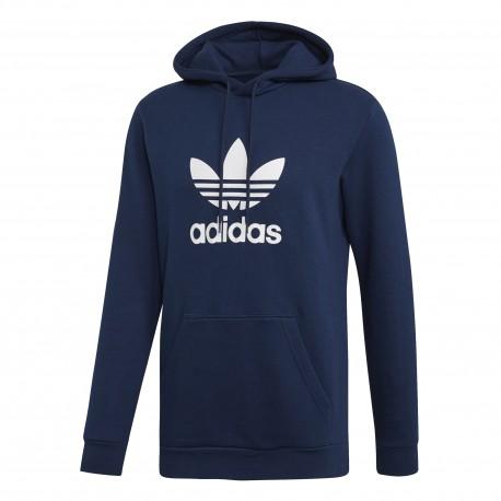 Adidas Originals Felpa Con Cappuccio Trefoil Blu Uomo