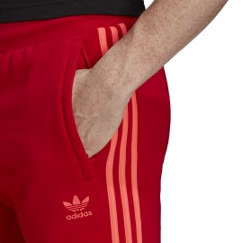 Adidas Originals Pantaloni 3 Stripes Rosso Uomo